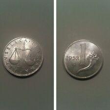 1 lira 1952 repubblica italiana fdc ass