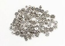 45g 100pcs Mixed Tibet Silver Beads Spacer For Jewelry making European Bracelet