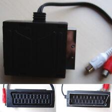 Adaptateur péritel mâle / femelle et 2 connecteurs câblés RCA femelle de 20cm