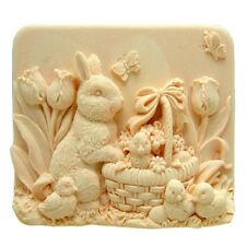 Easter bunny  Candle MoldSoap Mold Soap Mould Silicone Mold Resin Mold