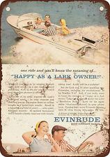 "1958 Evinrude Outboard Boat Motors 10"" x 7"" Reproduction Metal Sign"