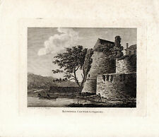 RARE ANTIQUE IRISH  PRINT -  ROSEREA CASTLE, Co. TIPPERARY - COPPERPLATE (1792)