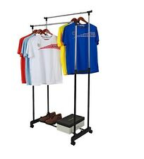 TRD DOUBLE POLE TELESCOPIC CLOTH DRYING STAND RACK