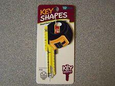 Tape Measure Kwikset house key blank.