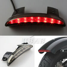 Smoke Chopped Fender Edge LED Tail Light For Harley Davidson Sportster 883 1200