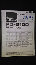 Pioneer pd-5100 4100 service manual original stereo cd player compact disc