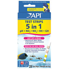 API 5 in 1 Aquarium Test Strips - 25 Strips
