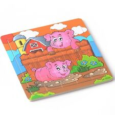 20pcs Cute Pigs Puzzle Jigsaw Toddler Kids Child Early Learning Toys Educational
