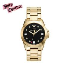 NWB Juicy Couture Women's Stella Crystal Authentic Stainless Steel Gold Watch -