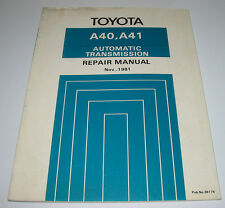 Repair Manual Toyota Automatic Transmission A40 / A41 KP 61 KE 70 TA60 RX60!