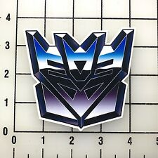 "Transformers Decepticon Logo 4"" Wide Vinyl Decal Sticker BOGO"