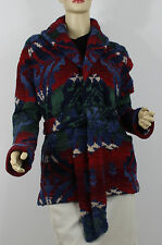 Ralph Lauren Hand Knit Beacon Sweater Jacket Womens Medium Cashmere Wool New