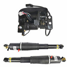 Pair Air Suspension shocks & Compressor Pump For Escalade Suburban Tahoe Yukon