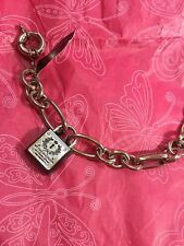 $58 Brighton My Flat In London Love Silver Tone Chain Bracelet