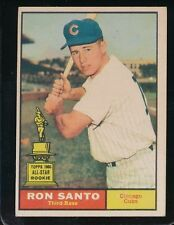 1961 TOPPS RON SANTO   VG/EX  CHICAGO CUBS #35   ROOKIE CARD    2817HM