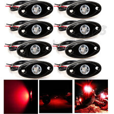 8X CREE LED Rock Red Light JEEP ATV 4x4 Off-Road Truck Trail Fender Dome Lights