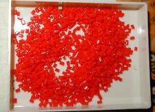 12 g rote Glas Perlen Hülsen Erzgebirge Puppenstube Perlenstickerei uralt 1910