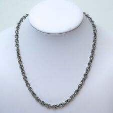 "New DAVID YURMAN Cable Rolo Chain Toggle Necklace Silver 18"" NWT"