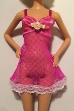 Barbie Doll Lingerie DARK PINK MAGENTA LACE TEDDY CAMISOLE Cami