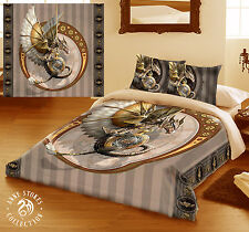 STEAMPUNK DRAGON - Duvet Cover Set for UK KING / US QUEENSIZE BED by ANNE STOKES