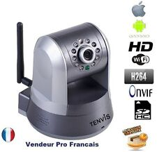 TENVIS IP NETWORK WIFI HD CAMERA PTZ IR-CUT IPROBOT3 SECURITY 5X ZOOM SD CARD