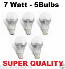 7W SET OF 5 PCS HIGH POWER, WHITE, COOL, SAFE LIGHT, HIGH QUALITY LED BULB