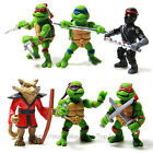 6x Teenage Mutant Ninja Turtles TMNT Action Figures Toy Classic Collection