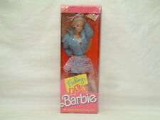 1988 Vintage Feeling Fun Barbie by Mattel #1189 Denim/Lace Outfit NRFB - SEALED