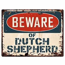 PPDG0017 Beware of DUTCH SHEPHERD Plate Rustic Chic Sign Decor Gift