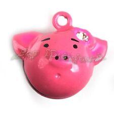 5x Wholesale Pink Pig Jingle Bells Fit Festival/Party Decorative 270124
