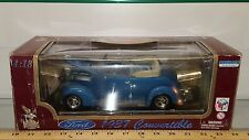 1/18 YATMING/ROAD LEGENDS 1937 FORD CONVERTIBLE TOP DOWN BLUE gd