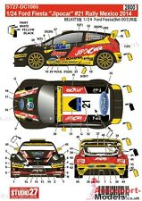 "1/24 ford fiesta 2014 rally mexico #21 ""Jipocar"" decal set par studio 27 ~ DC1085"