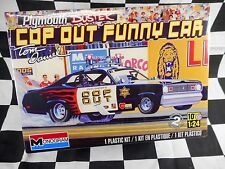 MONOGRAM 1/25 PLYMOUTH DUSTER COP OUT FUNNY CAR 2'n1 PLASTIC MODEL KIT