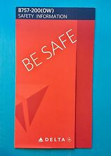 DELTA AIRLINES 757-200 OVERWATER SAFETY CARD