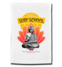 BODHI'S SURF School tea towel. Inspired by the 1991 film Point Break