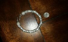 STERLING BRACELET RUSSIAN GANGSTER Or BIKER BABE  73.g.BIG 8x8mm! Not Used Pawn
