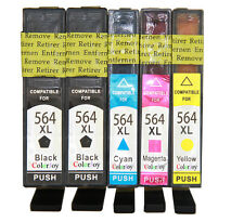 5x Replacement HP 564XL Ink for HP Photosmart 5510 5515 5520 5524 6510 7510 7520