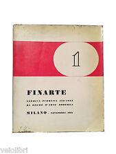 FINARTE VENDITA PUBBLICA ALL'ASTA DI OPERE D'ARTE MODERNA. Milano, Novembre 1961