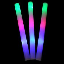"100pk 16"" Light Up Foam Sticks LED Multi Color Changing Rave Baton Party Wand"