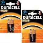 2 Duracell Plus 9V Batterie MN1604 6LR61 PP3 Batterie