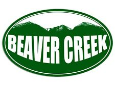 3x5 inch Oval BEAVER CREEK Green Mountain Sticker - decal colorado ski snow co