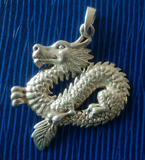 Attractive Vintage Sterling Silver Dragon Pendant
