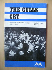 1968 THE GULLS CRY, Torquay United Magazine, Vol.1, No.2, March