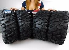 "New Yamaha Grizzly 700 MASSFX KT 26"" ATV Tires 26x9-12 26x11-12 Set 2007-2014"