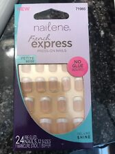 Nailene French Express Petite Beige Press-On Nails 71985 24 count No Glue Needed