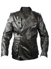 Custom Tailor Made All Size Genuine Blazer Coat Leather Jacket Double Breasted