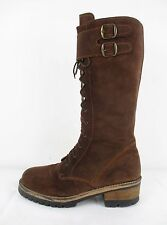 STUNNING WOMENS RARE VINTAGE BARRATTS ORIGINALS SUEDE LEATHER MILITARY BOOT 6 39