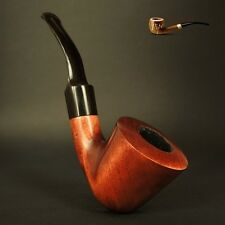 "HAND MADE WOODEN TOBACCO  SMOKING PIPE PEAR  "" Horn ""    Made by Artisan"