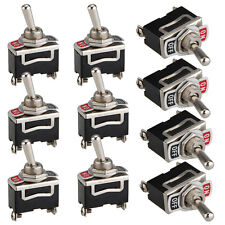10 Pcs DPDT Momentary Rocker Toggle Switch ON/OFF SPST 6A 250V AC 10A 125V AC