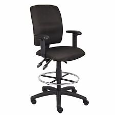 Drafting Table Chair Stool With Wheels Black Adjustable Arms Height Padded Seat